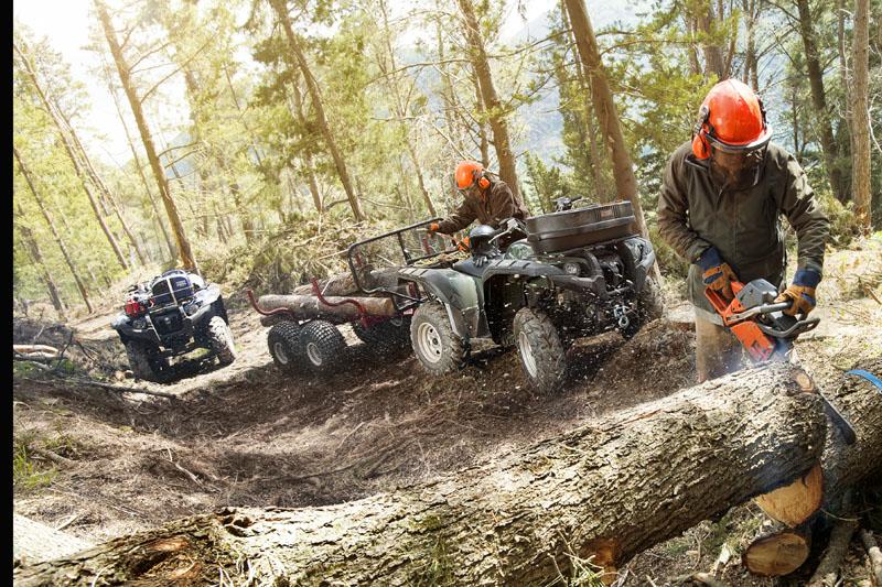 Eine tolle Kombination mit hohem Nutzwert: Holzarbeit und ATV.