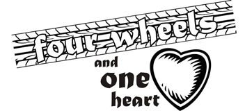 """four wheels one heart"""