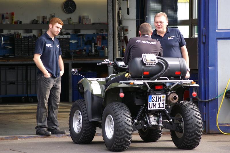 Diskussionsgrundlage: Das Gas-ATV sorgt für reichlich Gesprächsstoff.