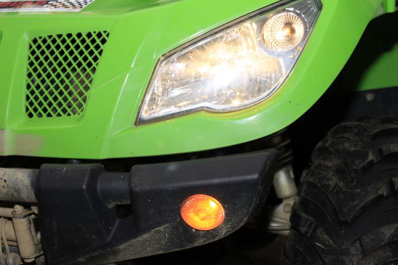 Es werde Licht: Checken, ob die lichttechnischen Einrichtungen funktionieren. Ein düsteres Quad ist ein sicherheitsrisiko!