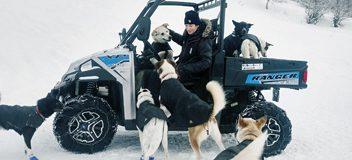 Polaris unterstützt Husky-Team