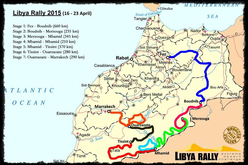 """Nicht nur im Kreis: Die Etappen der """"Libya"""" 2015."""