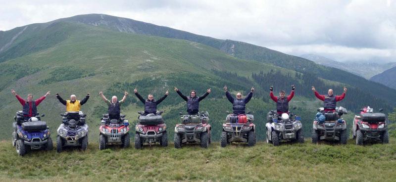 Spaß garantiert: ATV-Fans genießen Rumänien.